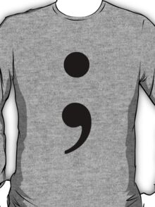 Black Semicolon T-Shirt