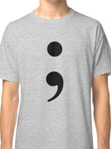 Black Semicolon Classic T-Shirt