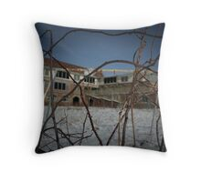 Seaside Sanatorium Throw Pillow