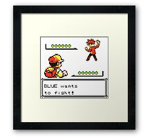 Pokemon Generation I - Champion Blue wants to fight! Framed Print