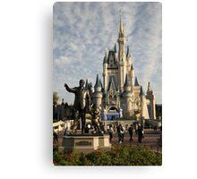WDW Magic Kingdom Castle & Walt Canvas Print