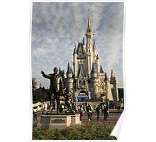 Castle & Statue Poster