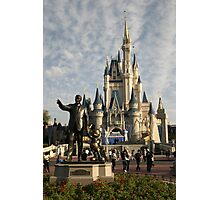 WDW Magic Kingdom Castle & Walt Photographic Print