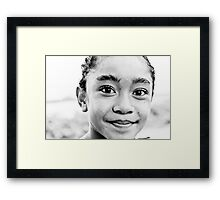 Nipa, the child with the hair of a mermaid Framed Print