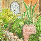 Andalucian Garden, Rabat, Morocco by johnpbroderick
