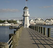 WDW Beach & Yacht Club Pier & Lighthouse by chewi