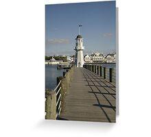WDW Beach & Yacht Club Pier & Lighthouse Greeting Card