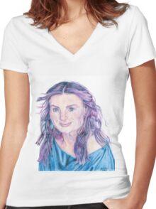 Idina Menzel Women's Fitted V-Neck T-Shirt