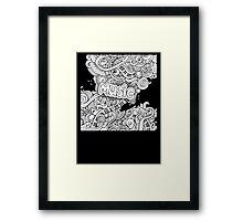 Black White Music Collage Framed Print