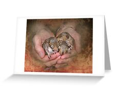 My Heart's In My Hands Greeting Card