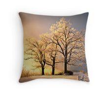 Luminous - Blue Ridge Winter Sunset Throw Pillow