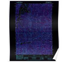 USGS Topo Map Oregon Prairie Peak 281170 1984 24000 Inverted Poster