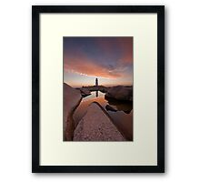 Peggy's Cove Rockpool Framed Print