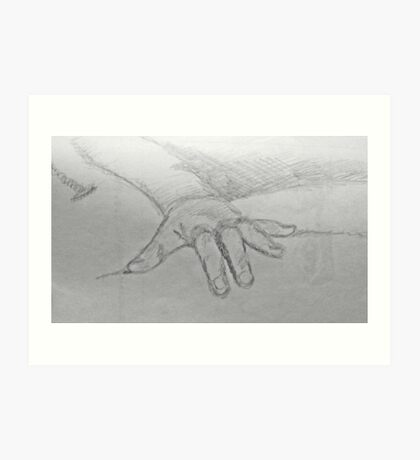 Hand Detail from Olympia by Edouard Manet Art Print
