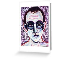 'Portrait of Keith Haring' Greeting Card
