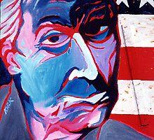'Portrait of Jasper Johns' by Jerry Kirk