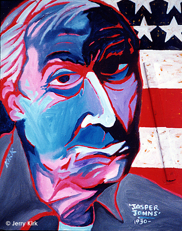 'Portrait of Jasper Johns' by Jerry Kirk