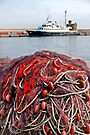 A Pile of Nets - Gallipoli Italy by Debbie Pinard