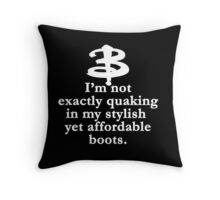 Buffy The Vampire Slayer Quote v2.0 Throw Pillow