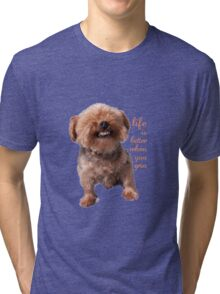 Dog Life is better when you grin Tri-blend T-Shirt
