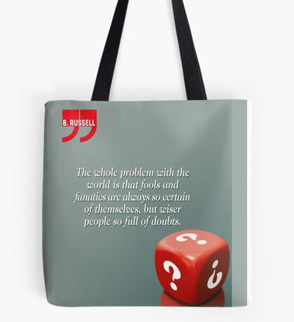 Doubt With Intelligence (Quotation) Tote Bag