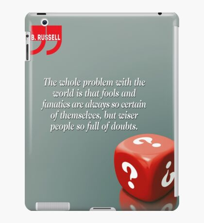 Doubt With Intelligence (Quotation) iPad Case/Skin
