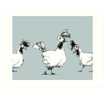 scribbler hens Art Print