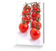 Tomatoes on a wine Greeting Card