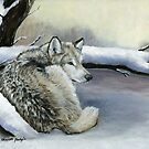 Wolf in the Snow by Charlotte Yealey