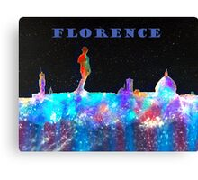 Florence Italy Skyline With Blue Banner Canvas Print