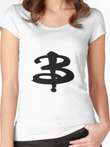 Buffy The Vampire Slayer 'B' v3.0 Women's Fitted Scoop T-Shirt