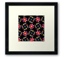 Feathers And Flowers Framed Print