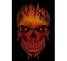 Flame Skull (2) Photographic Print