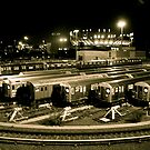 Train Yard at Arthur Ashe Stadium, Flushing, NY by RonnieGinnever