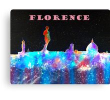 Florence Italy Skyline With Mauve Banner Canvas Print