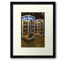 Den Haag Telephone Booths Framed Print