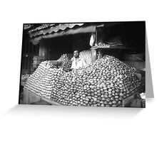 onions and potatos Greeting Card