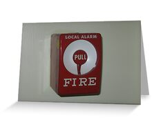 Local alarm Manual/Regular Pull Station for Fire Bell Activation Greeting Card