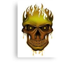 Flame Skull - Gold Canvas Print