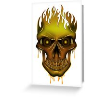 Flame Skull - Gold Greeting Card