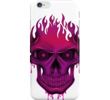 Flame Skull - Hot Pink iPhone Case/Skin