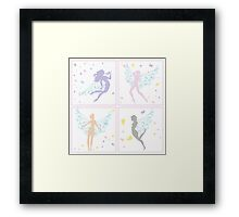 Fairies - pastel Framed Print
