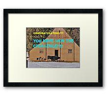 Barnyard Winners banner Framed Print