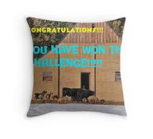 Barnyard Winners banner Throw Pillow