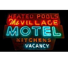 The Village Motel Photographic Print