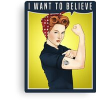 Scully the riveter Canvas Print