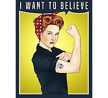 Scully the riveter Photographic Print