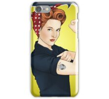 Scully the riveter iPhone Case/Skin