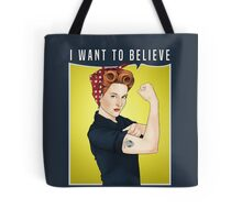 Scully the riveter Tote Bag
