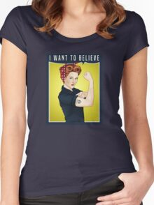 Scully the riveter Women's Fitted Scoop T-Shirt